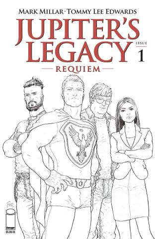Jupiter's Legacy: Requiem #1 (Quitely B&W Cover)