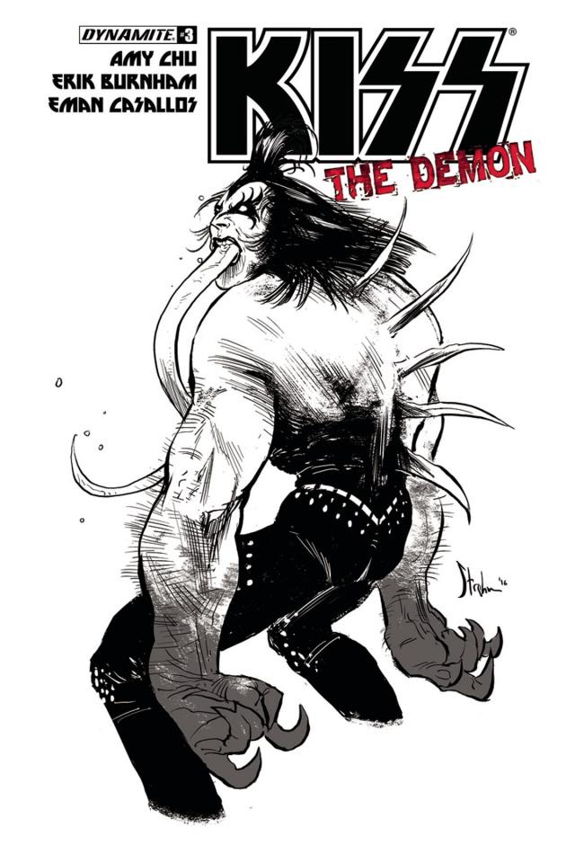 KISS: The Demon #3 (10 Copy Strahm B&W Cover)