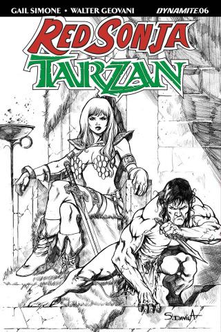 Red Sonja / Tarzan #6 (20 Copy Davila B&W Cover)