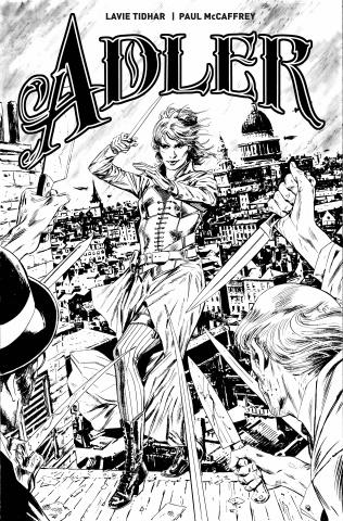 Adler #1 (B&W Guice Cover)
