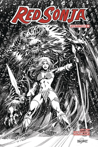 Red Sonja #24 (25 Copy Mandrake B&W Cover)
