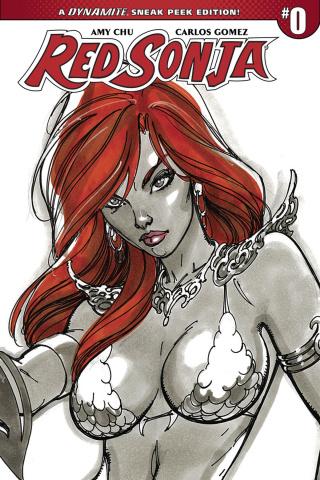 Red Sonja #0 (100 Copy Campbell Sneak Peek Cover)