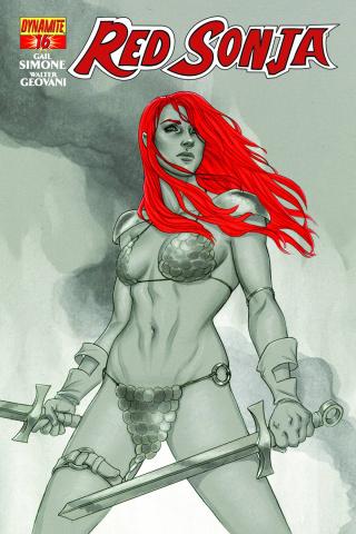 Red Sonja #16 (15 Copy Frison B&W Cover)