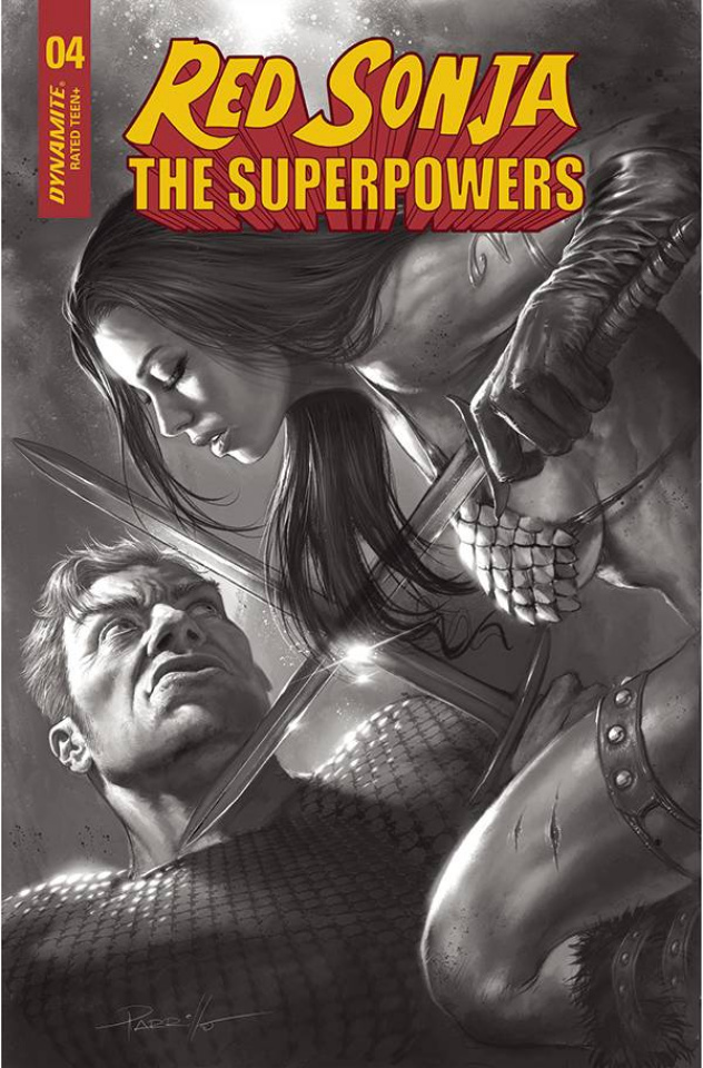 Red Sonja: The Superpowers #4 (30 Copy Parrillo B&W Cover)