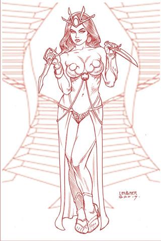 Dejah Thoris #5 (Linsner Rare Martian Red Cover)