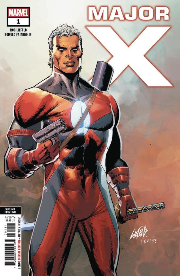 Major X #1 (Liefeld 2nd Printing)