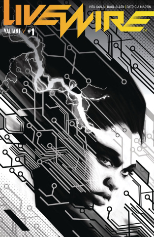 Livewire #1 (20 Copy B&W Pollina Cover)