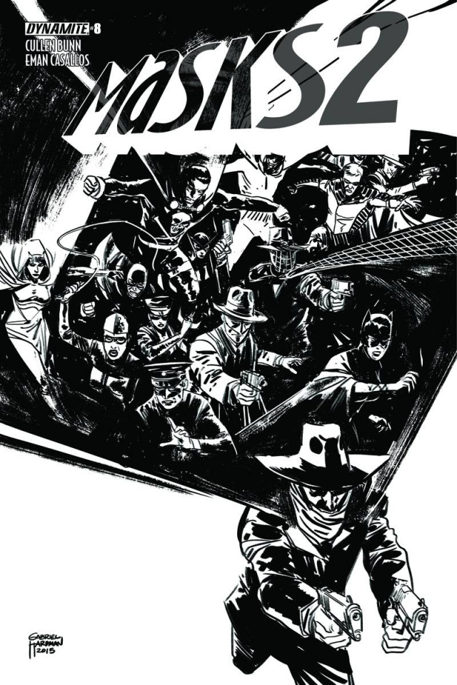 Masks 2 #8 (30 Copy Hardman B&W Cover)