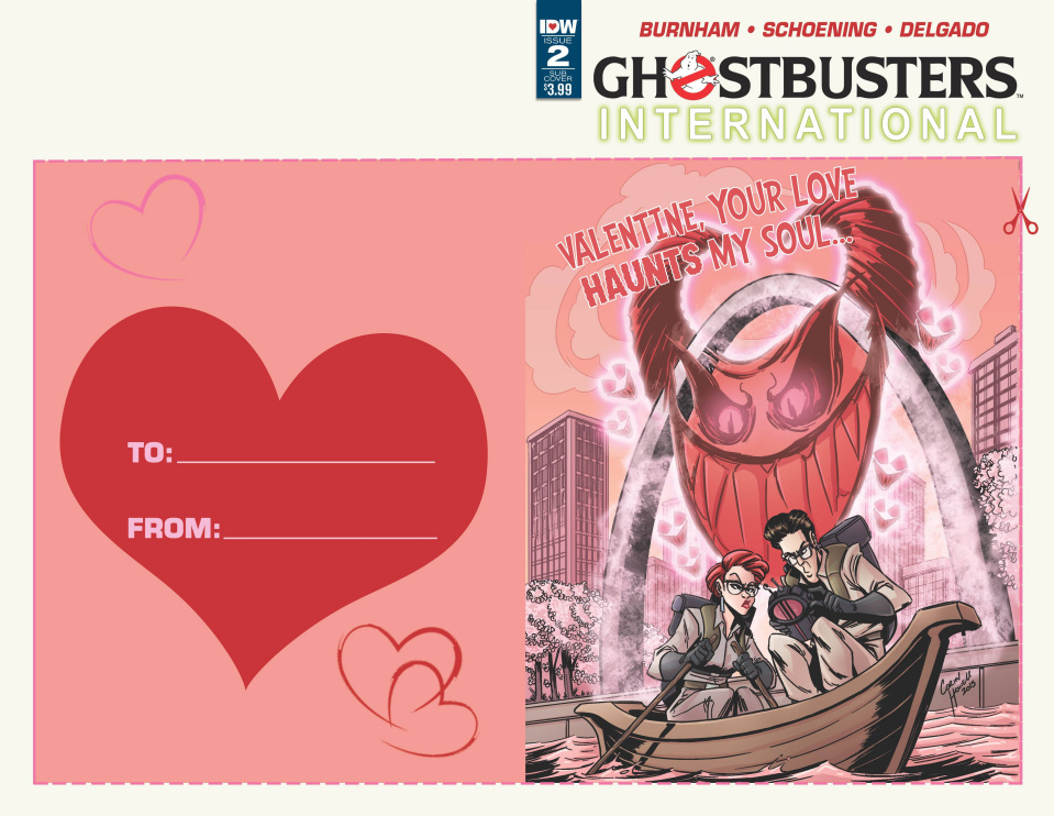 Ghostbusters International #2 (Valentine's Day Card Cover)