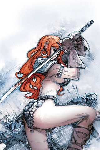 Red Sonja #24 (20 Copy Moritat Virgin Cover)