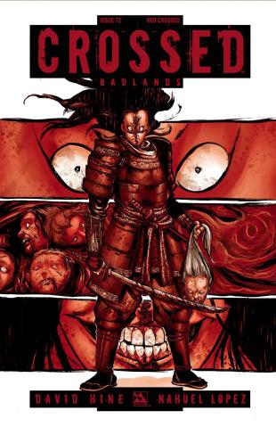 Crossed: Badlands #72 (Red Crossed Cover)