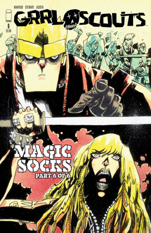 Grrl Scouts: Magic Socks #6 (Walking Dead #158 Tribute Cover)