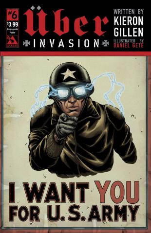 Über: Invasion #6 (Propaganda Poster Cover)