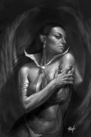 Vengeance of Vampirella #6 (25 Copy Parrilllo B&W Virgin Cover)