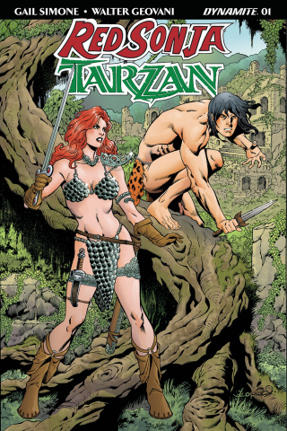 Red Sonja / Tarzan #1 (Lopresti Cover)