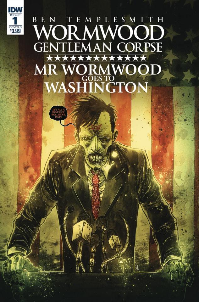 Wormwood: Gentleman Corpse - Mr. Wormwood Goes To Washington #1 (Templesmith Cover)