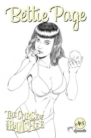 Bettie Page and The Curse of the Banshee #5 (10 Copy Mychaels Cover)