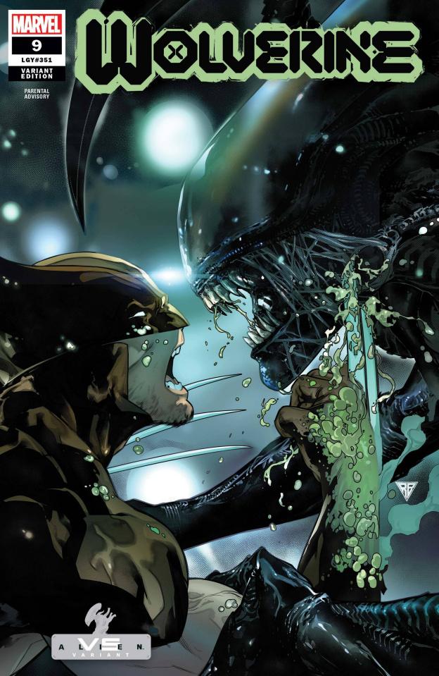 Wolverine #9 (Silva Marvel vs. Alien Cover)
