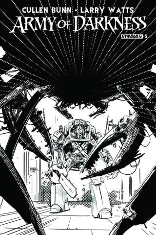 Army of Darkness #5 (10 Copy Hardman B&W Cover)
