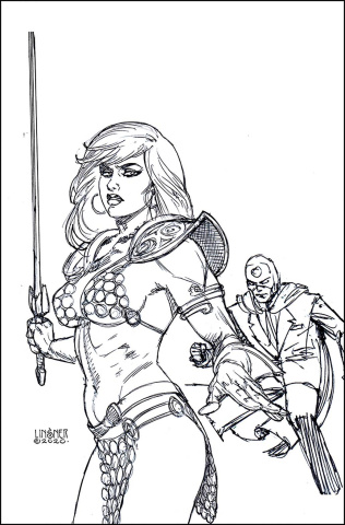 Red Sonja: The Superpowers #2 (45 Copy Linsner B&W Virgin Cover)