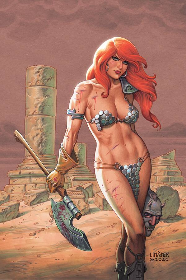 Red Sonja #19 (Linsner Virgin Cover)
