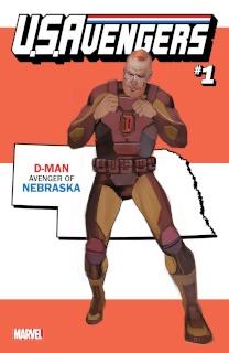 U.S.Avengers #1 (Reis Nebraska State Cover)