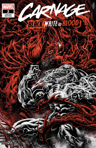 Carnage: Black, White, and Blood #2 (Hotz Cover)
