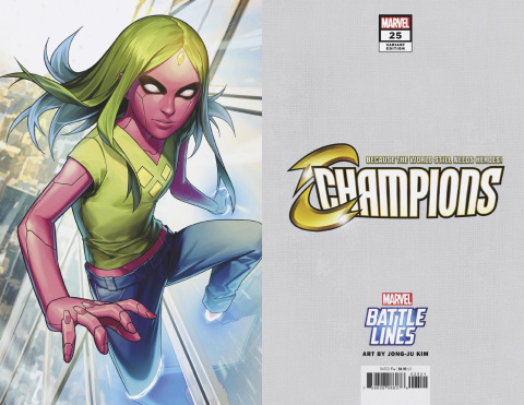 Champions #25 (Keunwoo Lee Marvel Battle Lines Cover)