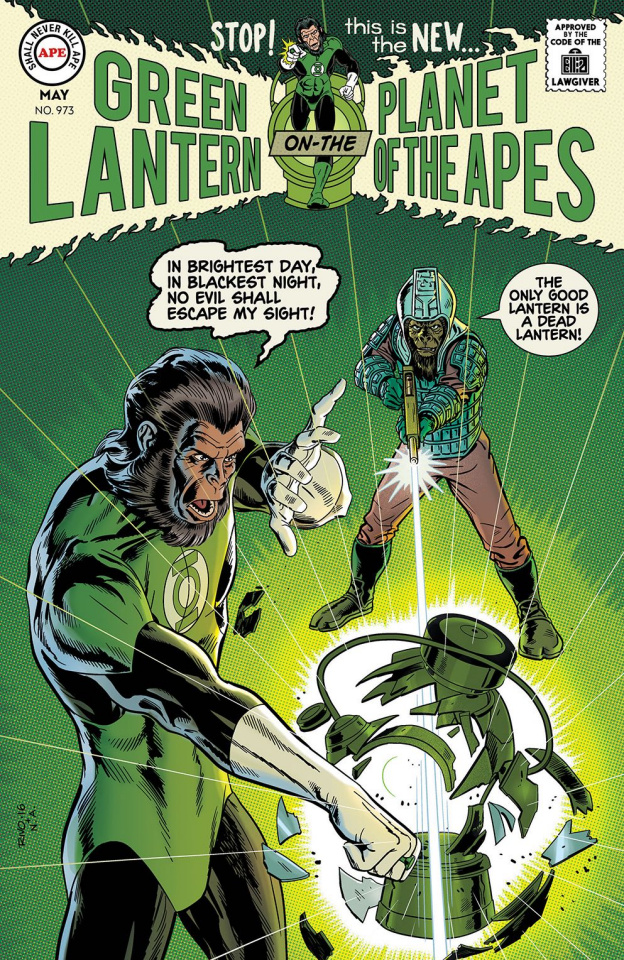 The Planet of the Apes / The Green Lantern #3 (20 Copy Rivoche Cover)