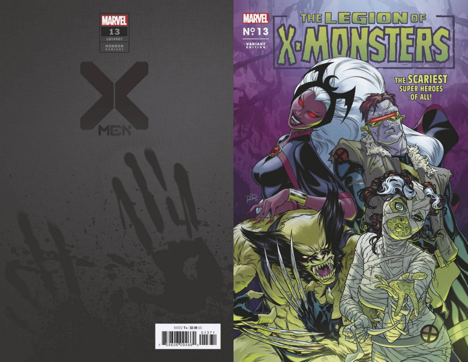 X-Men #13 (Dauterman Legion X-Monsters Horror Cover)