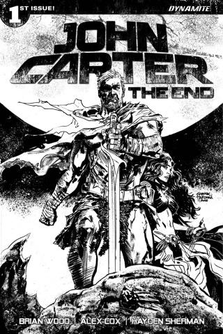 John Carter: The End #1 (30 Copy Hardman B&W Cover)