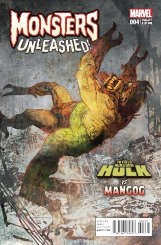Monsters Unleashed! #4 (Sienkiewicz Monster vs. Marvel Cover)