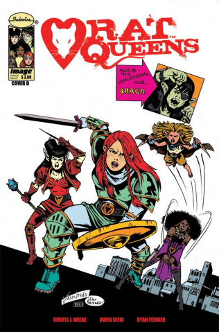 Rat Queens #7 (Valentino & Gieni Cover)