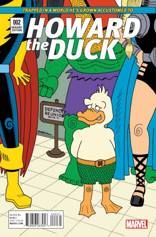 Howard the Duck #2 (Hembeck Cover)