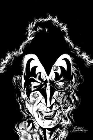 KISS: Zombies #2 (21 Copy Buchemi B&W Virgin Cover)