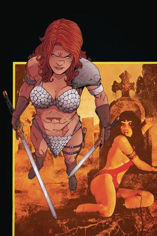 Vampirella / Red Sonja #4 (30 Copy Moss Virgin Cover)