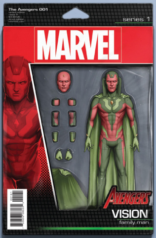 Avengers #1 (Christopher Action Figure Cover)