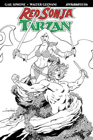 Red Sonja / Tarzan #6 (30 Copy Lopresti B&W Cover)