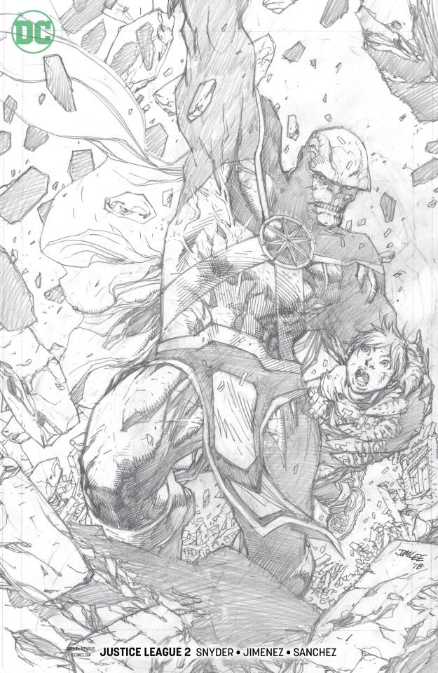 Justice League #2 (Jim Lee Pencil Cover)