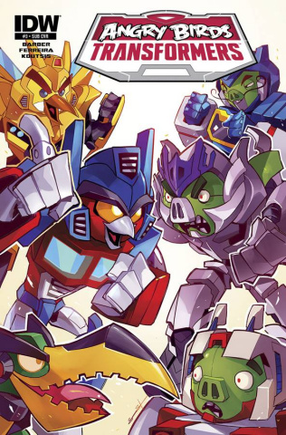 Angry Birds / Transformers #3 (Subscription Cover)