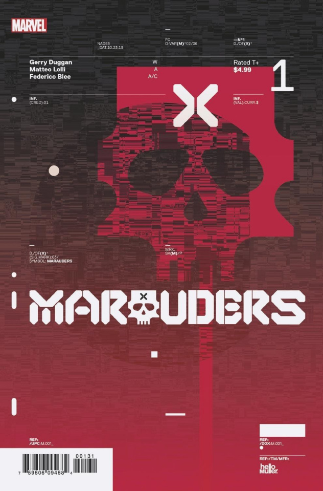 Marauders #1 (Muller Design Cover)
