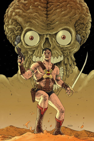 Warlord of Mars Attacks #1 (20 Copy Villalobos Virgin Cover)
