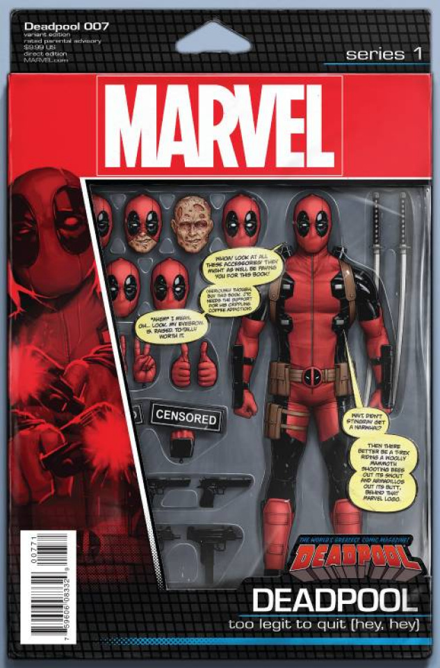 Deadpool #7 (Christopher Action Figure Cover)