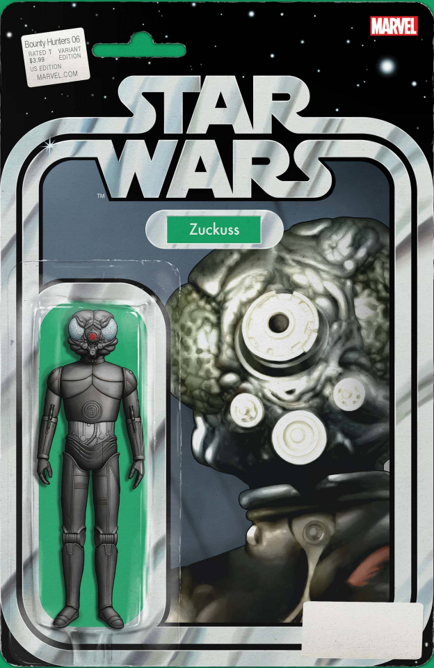 Star Wars: Bounty Hunters #6 (Christopher Action Figure Cover)
