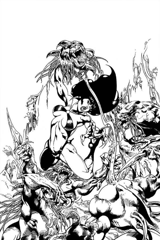 Vengeance of Vampirella #9 (21 Copy Castro B&W Virgin Cover)