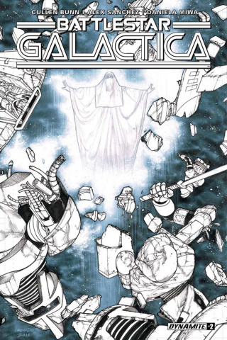 Battlestar Galactica #2 (10 Copy B&W Cover)