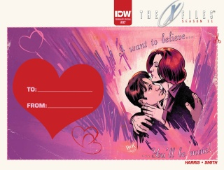 The X-Files, Season 11 #7 (Valentine's Day Card Cover)