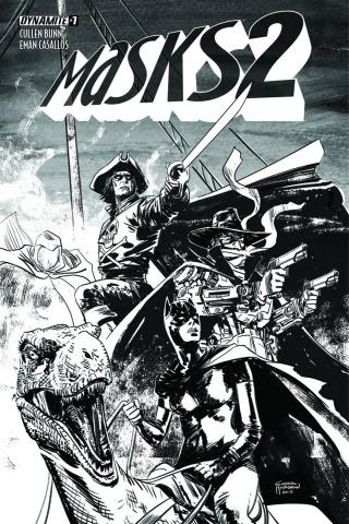 Masks 2 #7 (30 Copy Hardman B&W Cover)