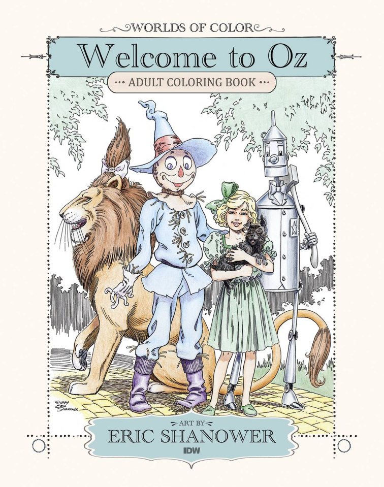 Worlds of Color: Welcome To Oz (Adult Coloring Book)