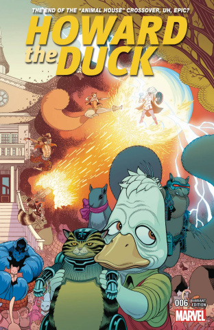 Howard the Duck #6 (Moore Connecting B Cover)